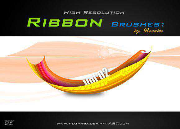 Photoshop Brushes free designers Ribbon Brush Rozairo