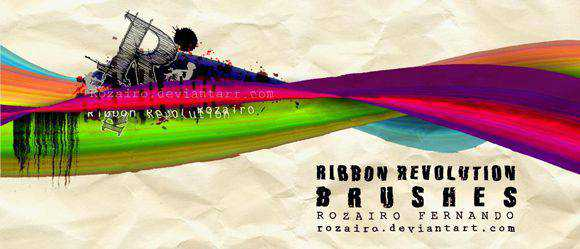 Photoshop Brushes free designers Ribbon Revolution Brushes