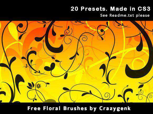 Photoshop Brushes free designers Free Floral Brushes