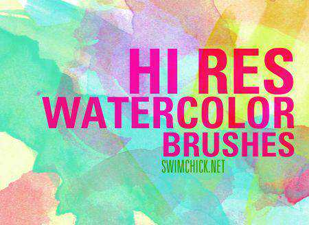 Hi-Res Watercolour Brushes