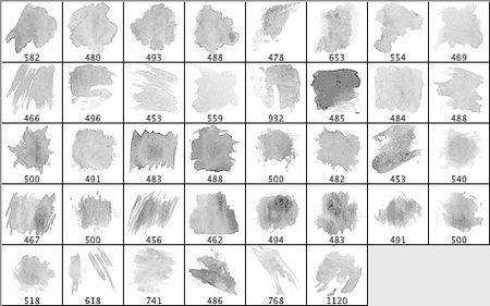 30 Free Watercolor Brush Sets for Adobe Photoshop