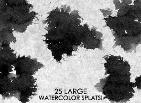 Large Watercolor Splats