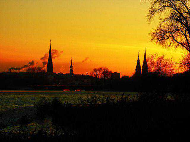 Hamburg in Sunset free photography gothic