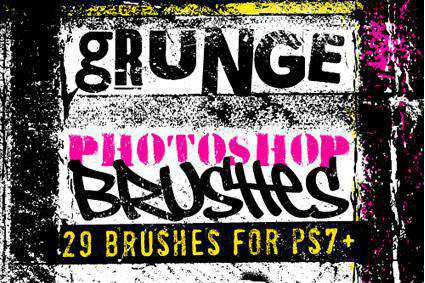 old grunge distressed free photoshop brush pack set adobe