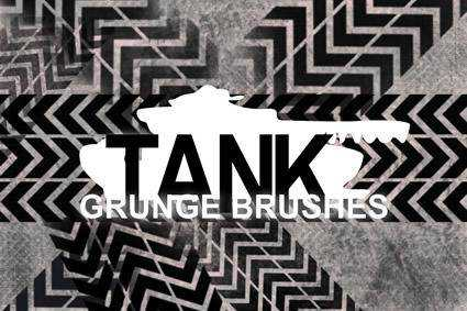 Tank Pattern grunge distressed free photoshop brush pack set adobe