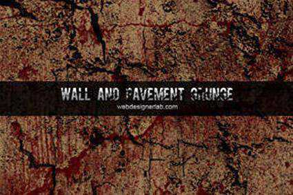 Walls Pavement grunge distressed free photoshop brush pack set adobe