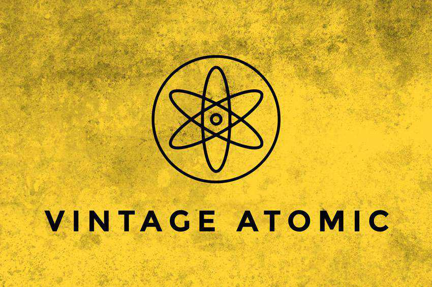 Vintage Atomic Texture grunge distressed photoshop brush pack set adobe