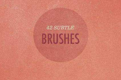 Subtle grunge distressed free photoshop brush pack set adobe