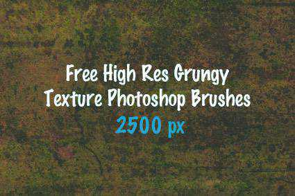 Texture grunge distressed free photoshop brush pack set adobe