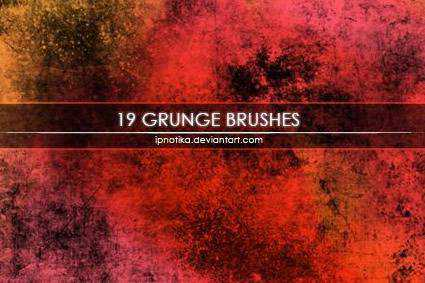 304 grunge distressed free photoshop brush pack set adobe