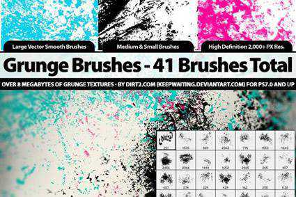 brushes grunge distressed free photoshop brush pack set adobe