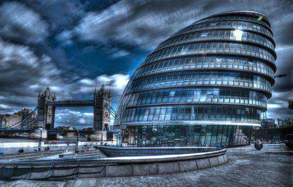 City Hall and Tower Building Architectural Photography with an HDR style