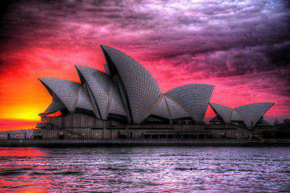 Blood at the Opera House Architectural Photography with an HDR style