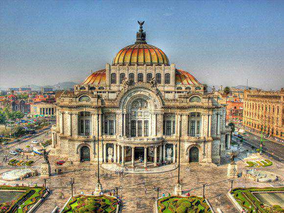 Bellas Artes is a fantastic example of Architectural hdr Photography