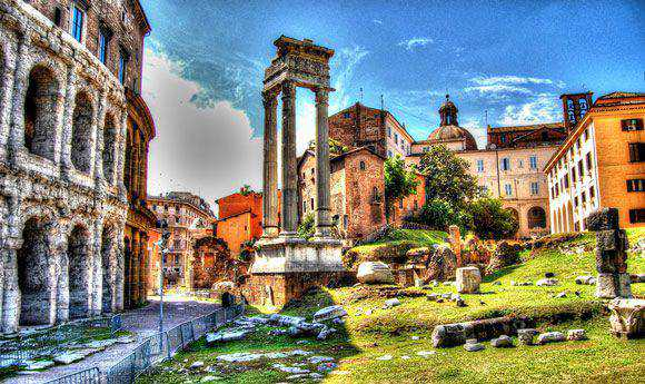 Roma Teatro di Marcello Architectural Photography with an HDR style