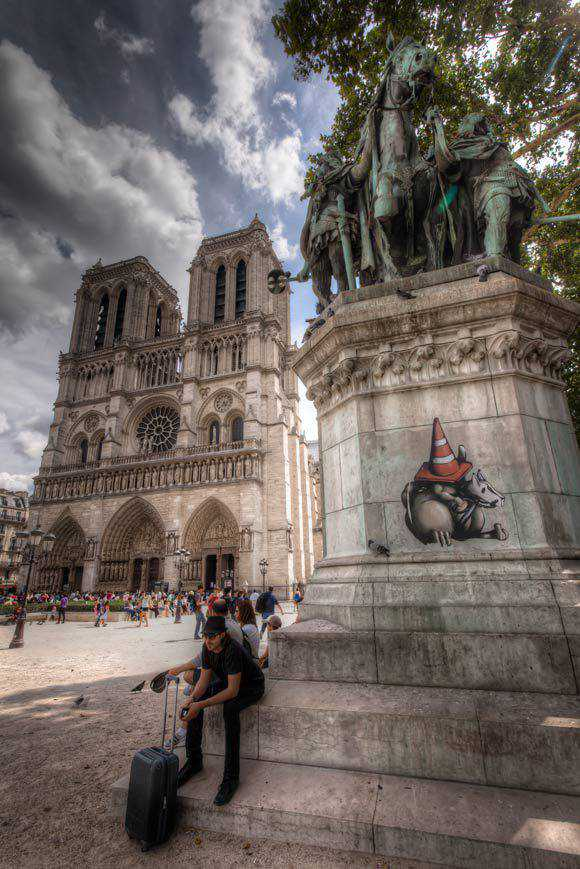 Notre Dame Cathedral in Paris Architectural Photography with an HDR style
