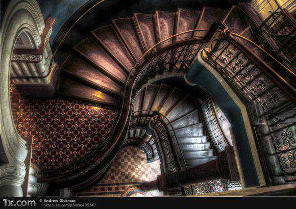 Stair Well Architectural Photography with an HDR style