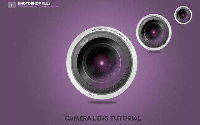 Create A Camera Lens Photoshop icon tutorial