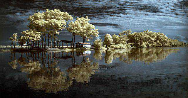 shot infrared Morning Reflection