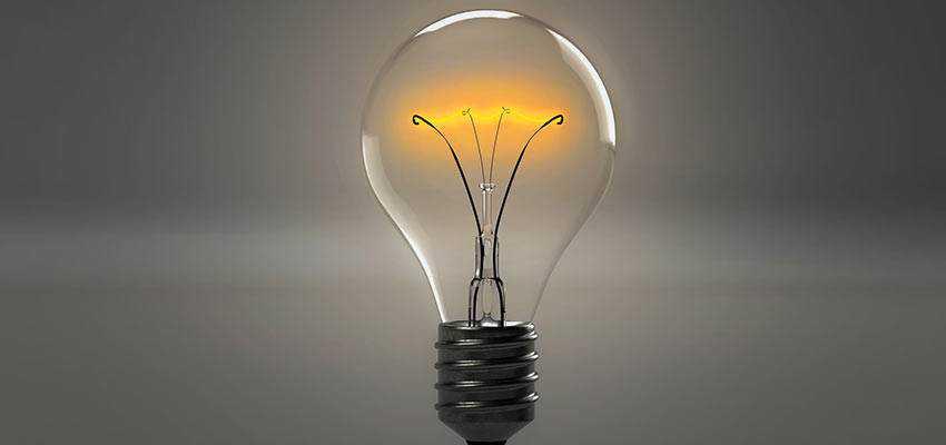 A lightbulb.