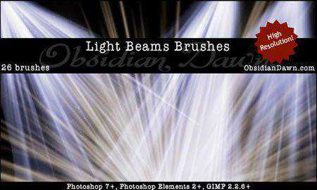 Light Beams + Rays Brushes 26 Brushes