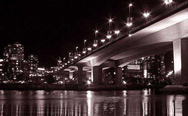 monochromatic photo photography Night Drive
