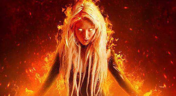 A Fantasy Fiery Portrait Photo-Manipulation