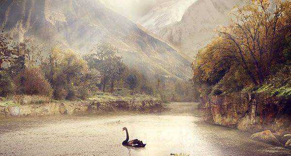 A Serene Fantasy Photo Manipulation
