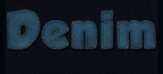 Stitched Denim Text Effect Photoshop Tutorial