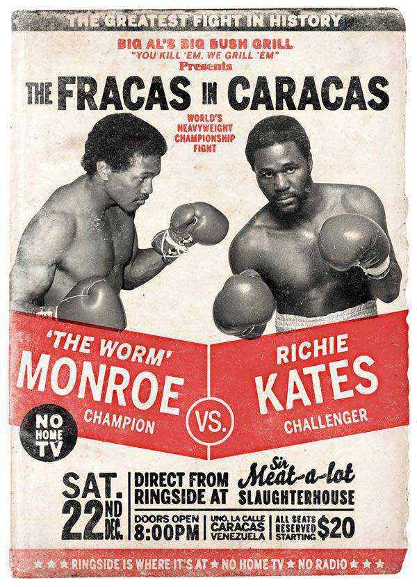 Photoshop Retro Boxing Poster Design