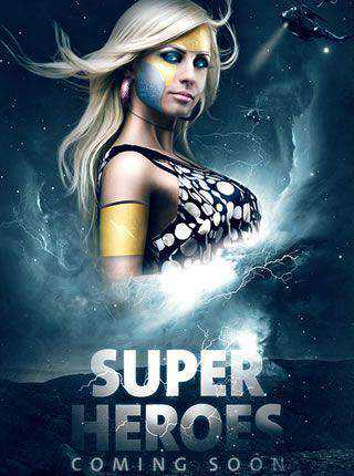 Superhero Movie Teaser Poster