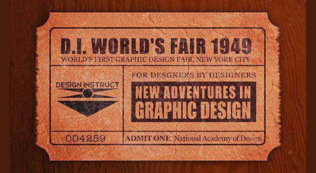 Realistic Vintage Ticket Stub