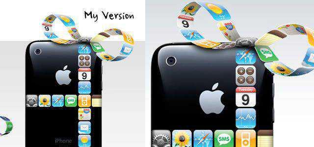 iPhone Gift Ribbon Photoshop Tutorial