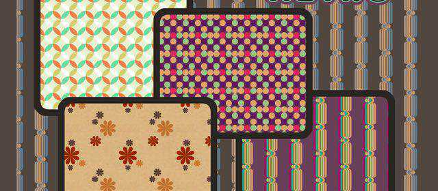 adobe photoshop freeRetro comes with 4 Patterns