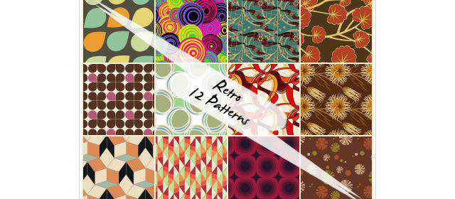 adobe photoshop freeRetro Patterns comes with 12 Patterns