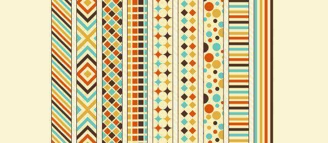 adobe photoshop freeRetro Patterns comes with 9 Patterns