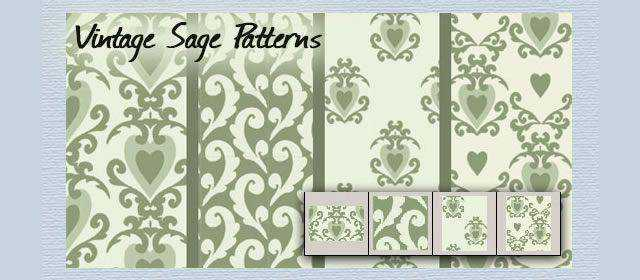 adobe photoshop freeVintage Sage comes with 4 Patterns