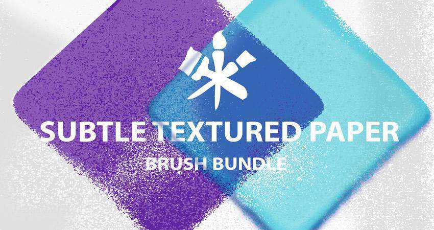 Paper soft subtle textured free photoshop brush pack set adobe
