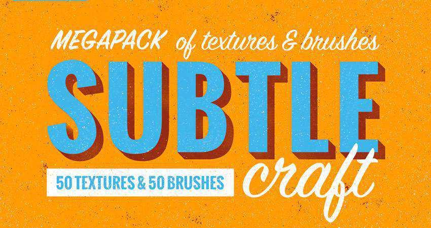 Subtlecraft Textures soft subtle textured photoshop brush pack set adobe