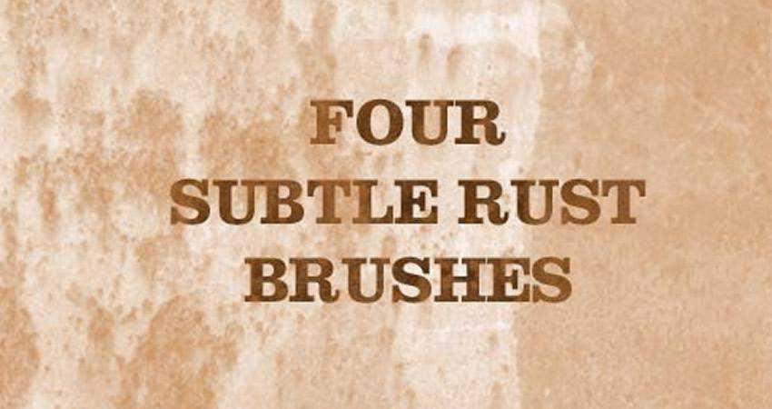 Rust soft subtle textured free photoshop brush pack set adobe