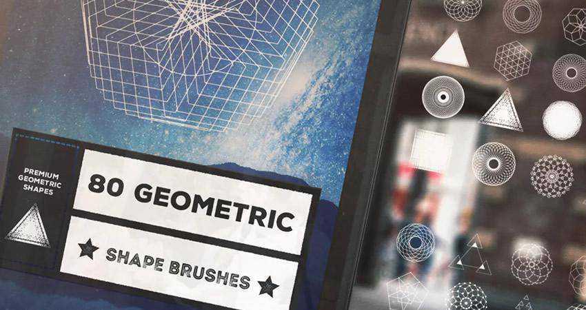 Geometric Shape soft subtle textured photoshop brush pack set adobe