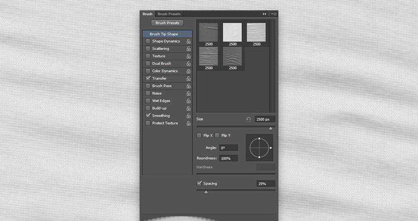 Simple Fabric soft subtle textured free photoshop brush pack set adobe