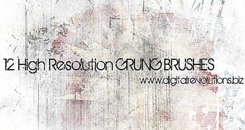 Grunge soft subtle textured free photoshop brush pack set adobe