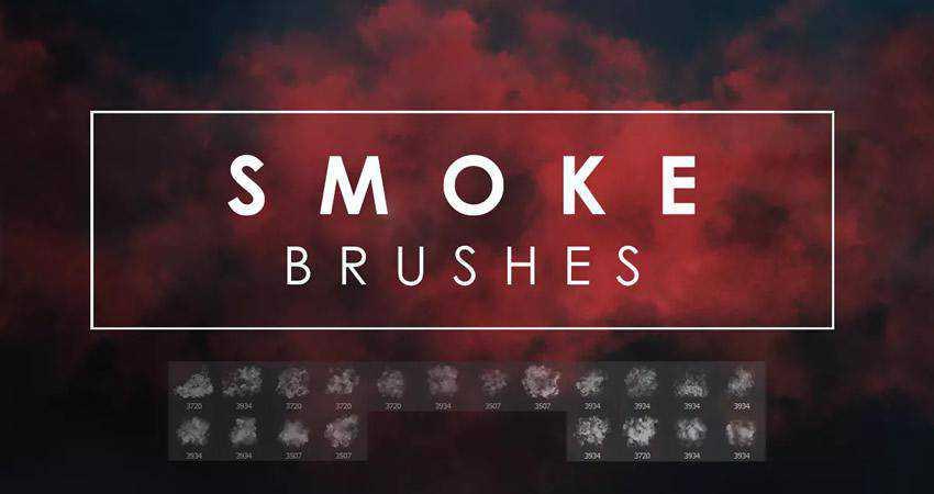 smoke soft subtle textured photoshop brush pack set adobe