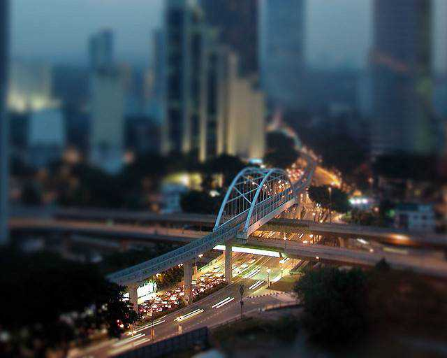 tilt-shift photography miniature Toy Kuala Lumpur