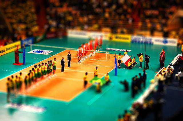 tilt-shift photography miniature Tilt-shift Volei