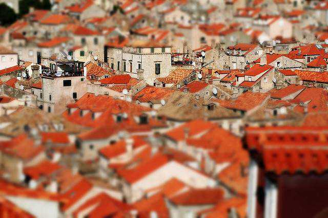 tilt-shift photography miniature Dubrovnik tilt-shift miniature fake