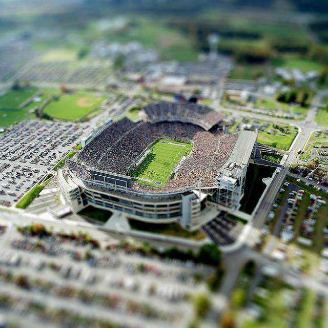 tilt-shift photography miniature Stadium