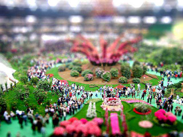 tilt-shift photography miniature Euroflora 2006