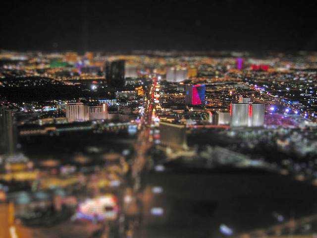 tilt-shift photography miniature Vegas Tilt Shift